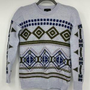 J Crew Women's Crew Neck sweater fair isle XXS